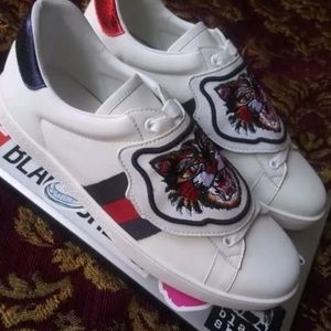 Gucci ace tiger patch sneakers